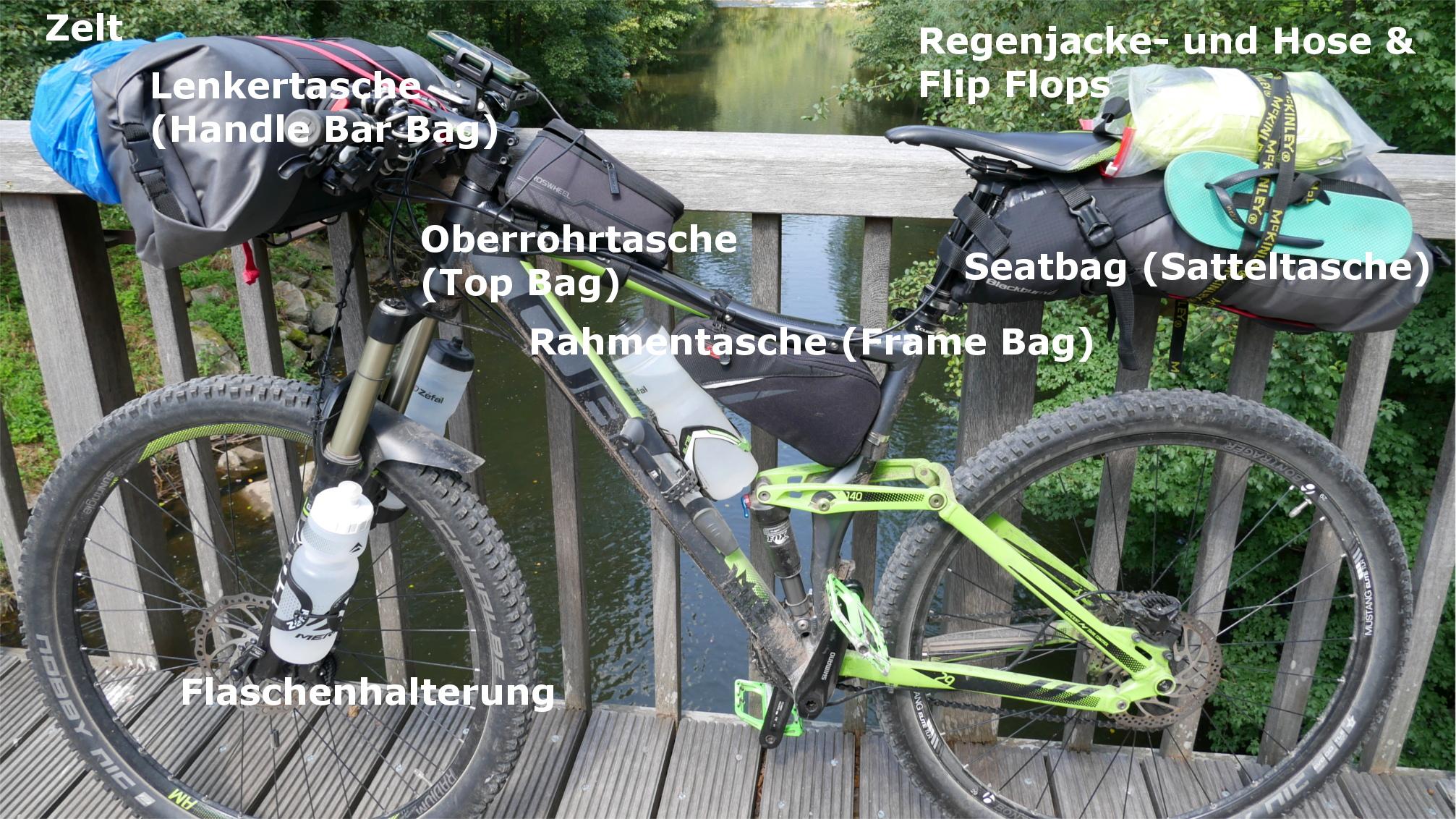 Bikepacking Ausrüstung/Packliste – www.mtbtravelgirl.de