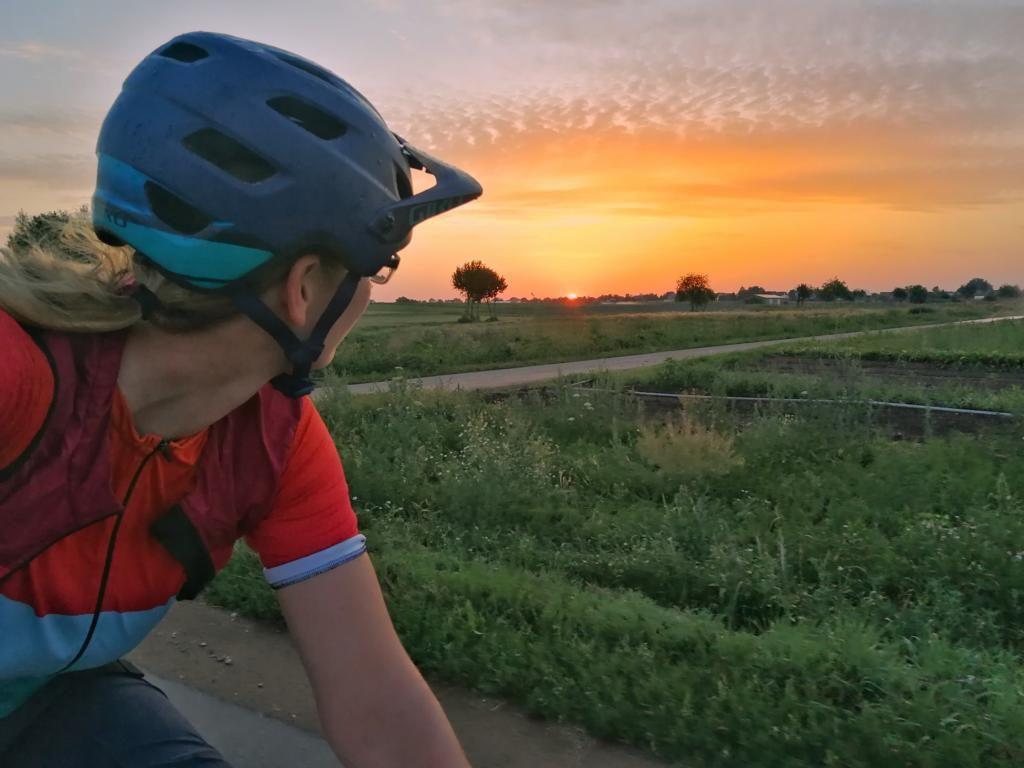 Bikepacking Franconia Sonnenaufgang
